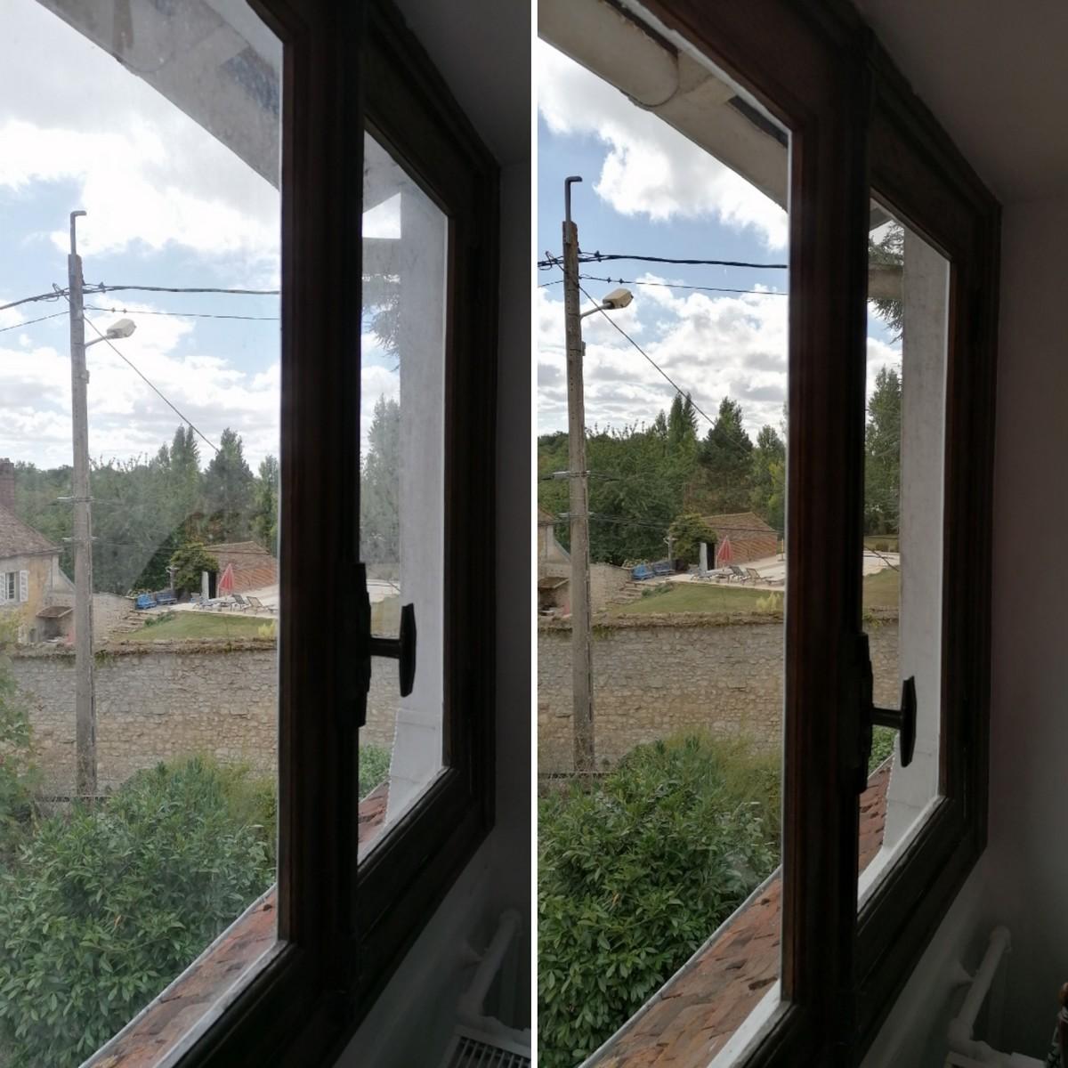 Nettoyage vitres à Marines AVANT & APRES